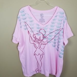 Disney Pink Tinkerbell Crown T-shirt sz 26/28 (4X)